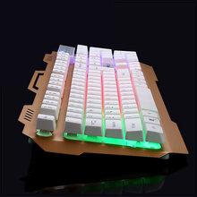烽火狼K12暗夜精灵金属合金游戏键盘悬浮式键帽呼吸灯发光多媒体功能按键图片
