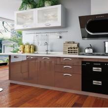 厨柜十大品牌欧意厨柜之月光曲丽晶系列烤漆整体厨柜品牌厨柜加盟首选图片