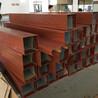 木纹色焊接铝方管佛山厂家定制折弯烧焊大铝方通