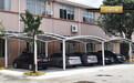 云南铝合金汽车车棚拉杆式停车棚自行车耐力板遮阳棚车蓬外贸代加工