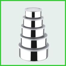 不锈钢保鲜碗五件套彩色密封碗10-18cm带盖保鲜盒套装小赠品图片