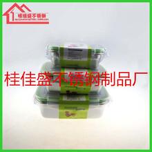 304不锈钢保鲜盒冰箱收纳盒水果保鲜盒带盖长方形密封盒留样盒图片