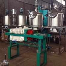 食用油精炼设备新型油脂精炼成套机组动物牛油精炼设备价格图片