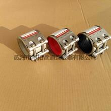 生产各种型号威海耐拓MF多功能管道连接器RCH单卡修补器船用联管夹图片