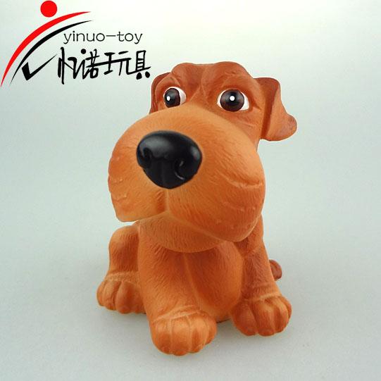发光玩具搪胶环保玩具小狗发光玩具忆诺玩具厂家批发