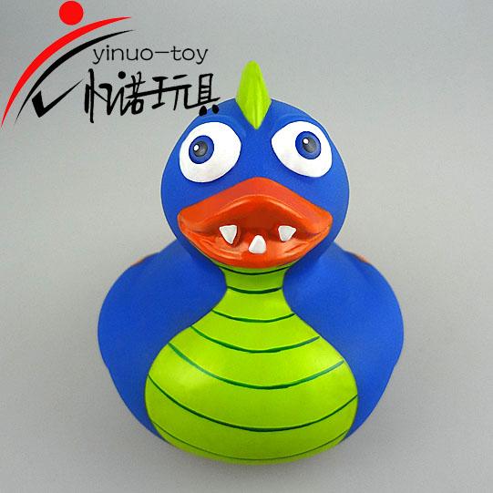 儿童玩具儿童洗澡玩具蓝色搪胶龙鸭忆诺玩具厂家直销
