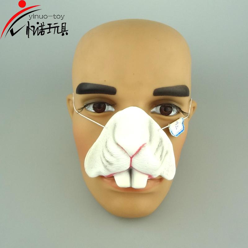 环保出口动物鼻子面具小丑鼻子面具搪塑玩具批发生产