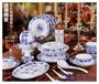 供应青花骨瓷餐具套装碗碟盘餐具定制批发