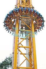 天津刺激类大型游乐设备跳楼机假期吼声尖叫声不断图片