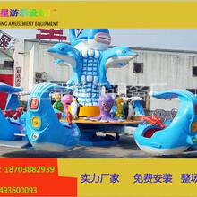 游乐场最火最受欢迎的儿童激战鲨鱼岛庙会新型游乐设备图片
