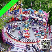 二手大型公园游乐设备霹雳转盘山东游乐场设备转让