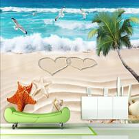 主题KTV壁画,酒店主题艺术壁纸,无缝3D风景壁画,主题酒店壁画图片