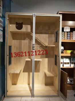 极速快三分析—猫笼子柜笼实木生态板别墅大号宠物用品铝合金柜门柜笼