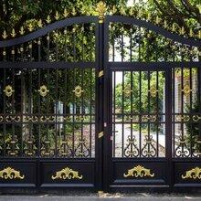 东丽区铁艺门定做、铁艺大门、铁艺围栏安装厂图片