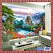 热销3d立体瓷砖背景墙陶瓷流水生财壁画迎门墙照壁瓷砖