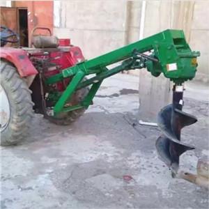 济宁园林种植挖洞机拖拉机后牵引式挖坑机