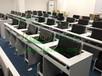 最新品牌翻转电脑桌电教室电脑桌销售机房电脑桌多功能培训桌