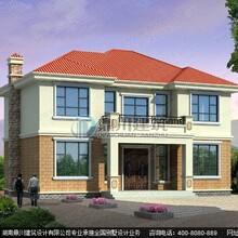 农村13.2米×10.2米二层带露台小别墅经济型设计效果图