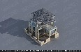 13.5×14.7米三层带内院现代风格小别墅设计效果图
