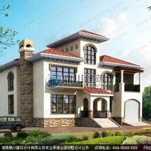 16.3×15.3米二层带阁楼别墅设计效果图
