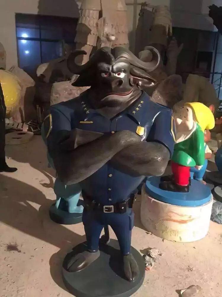 疯狂动物城雕塑模型出租价格动漫卡通人物模型出租