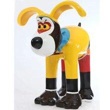 卡通狗狗展览模型制作定制狗狗彩绘模型出售