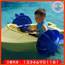 户外移动水上乐园手摇船儿童玩具船电动充气碰碰船游乐设备厂家图片
