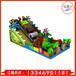 万之利新款大型儿童乐园梯变色龙蜘蛛侠充气城堡滑充气蹦蹦床大攀岩滑梯