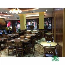 2016新款主题餐厅餐桌椅时尚西餐厅咖啡厅实木餐桌定做深圳