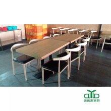 厂家直销西餐厅板式餐桌肯德基简约快餐桌椅批发可来图定做