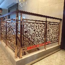佛山铝艺楼梯扶手厂家铝合金旋转楼梯护栏图片
