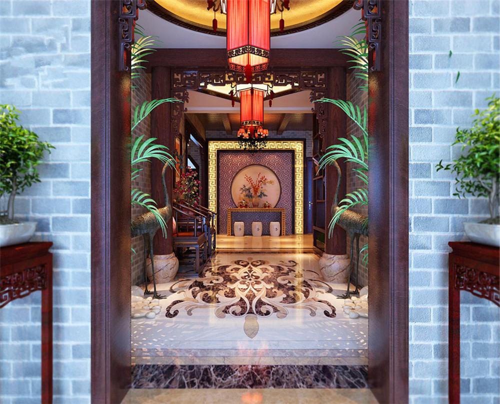 古典中式-衡水别墅-古韵磐竹-石家庄实创装饰