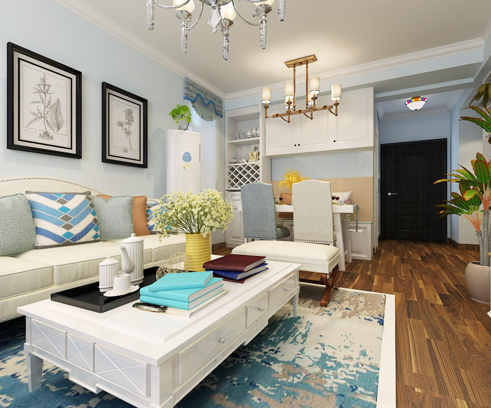 美式风格-启锐园-美式小清新二居室-石家庄实创装饰