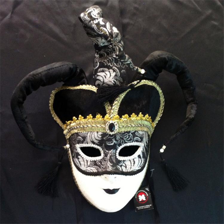 威尼斯风格全脸面具手绘环保纸浆面具加工