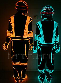 荧光演出服发光衣服舞蹈服装夜光舞台道具时尚冷光背心马甲