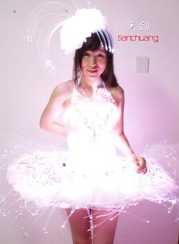 LED发光服发光芭蕾裙发光舞台服发光演出服发光礼服夜光服