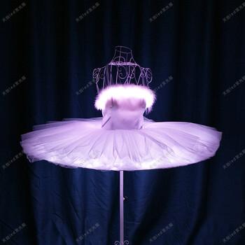 天创led发光裙子成人舞蹈开场发光led芭蕾裙天鹅湖芭蕾舞裙