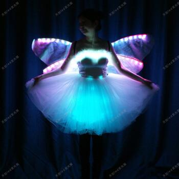 天创led发光芭蕾舞裙舞台led发光小天鹅短裙成人LED表演裙子