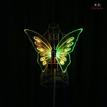 天使翅膀led发光衣服cosplayLED道具酒吧dj舞蹈led翅膀