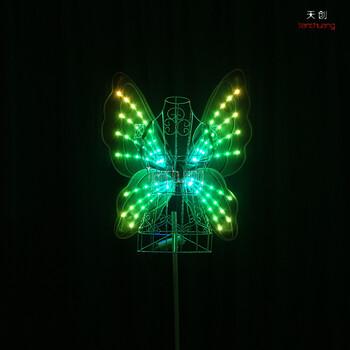 LED发光蝴蝶翅膀儿童表演发光翅膀舞台演出LED道具led发光披风