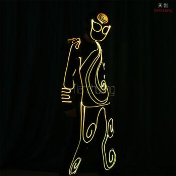 荧光舞蹈服商演活动创意led发光演出服团体舞街舞发光表演服装