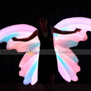 TC-0185led充气款发光翅膀户外全彩可控制发光演出充气大翅膀