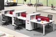 事业单位职员胶版组合办公桌椅生产厂家现代职员组合办公桌椅批发厂家