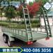 牽引平板拖車使用方法工業用尾板牽引平板拖車廠家現貨