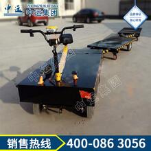 电动牵引车平板牵引拖车,四轮转向平板牵引拖车图片