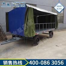 四轮转向雨棚引牵平板拖车图片