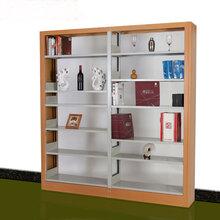 木护钢制双面单面书架学校图书书籍馆书架阅览室书架资料架档案架图片