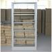 重慶鋼制書架單面雙面圖書館報刊架移動轉印資料架木護板書架