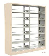 鋼制書架圖書館雙柱雙面轉(zhuan)印書架書店學校單面木護板閱覽(lan)室(shi)資料架圖片