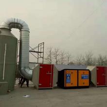 山东淄博印刷厂化工厂环保设备加装光氧催化废气处理设备